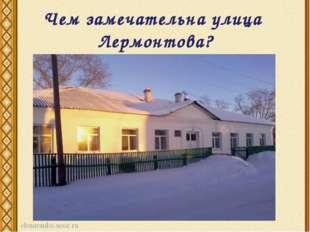 Чем замечательна улица Лермонтова?