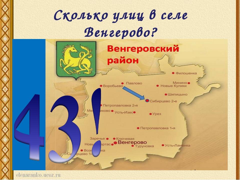 Сколько улиц в селе Венгерово?