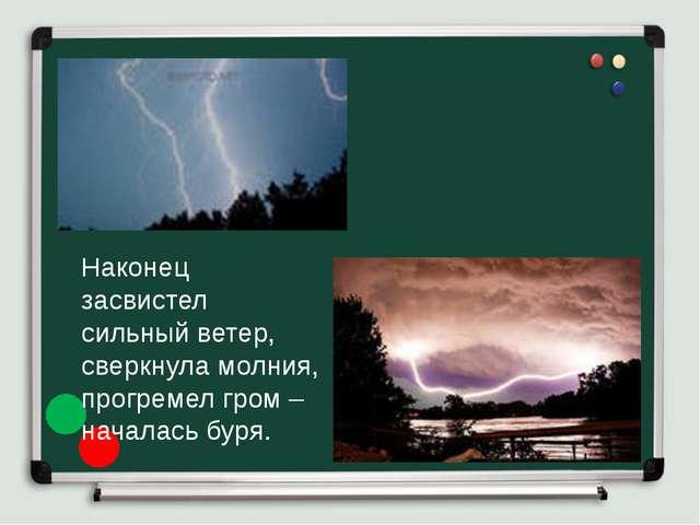 Наконец засвистел сильный ветер, сверкнула молния, прогремел гром – началась...