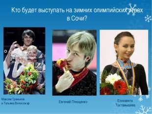 Кто будет выступать на зимних олимпийских играх в Сочи? Максим Траньков и Тат