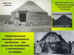 Национальные жилища кочевников калмыков – как средство выживания в автономных