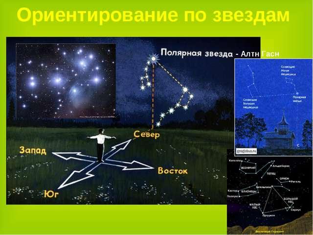 Ориентирование по звездам - Алтн Гасн