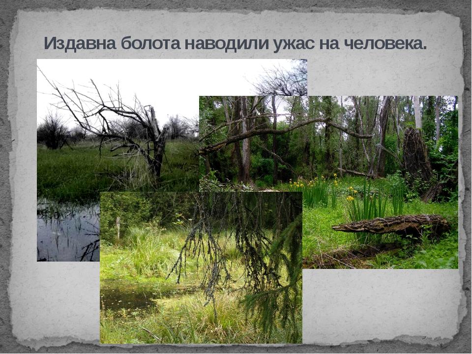 Издавна болота наводили ужас на человека.