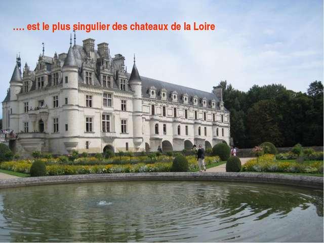...... est le plus singulier des châteaux de la Loire. …. est le plus singuli...