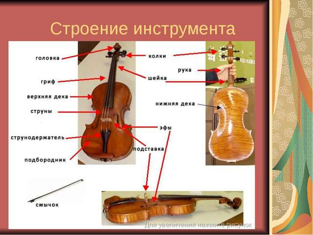 Строение инструмента