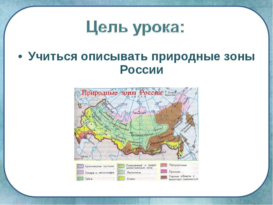 Учиться описывать природные зоны России