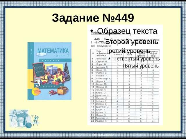 Задание №449