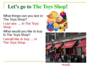 Let's go to The Toys Shop!