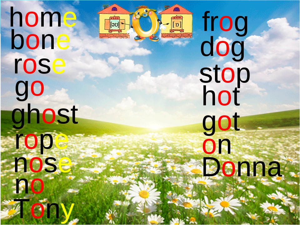 home bone rose go ghost rope nose no Tony frog dog stop hot got on Donna