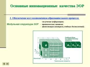 1. Обеспечение всех компонентов образовательного процесса. - получение информ