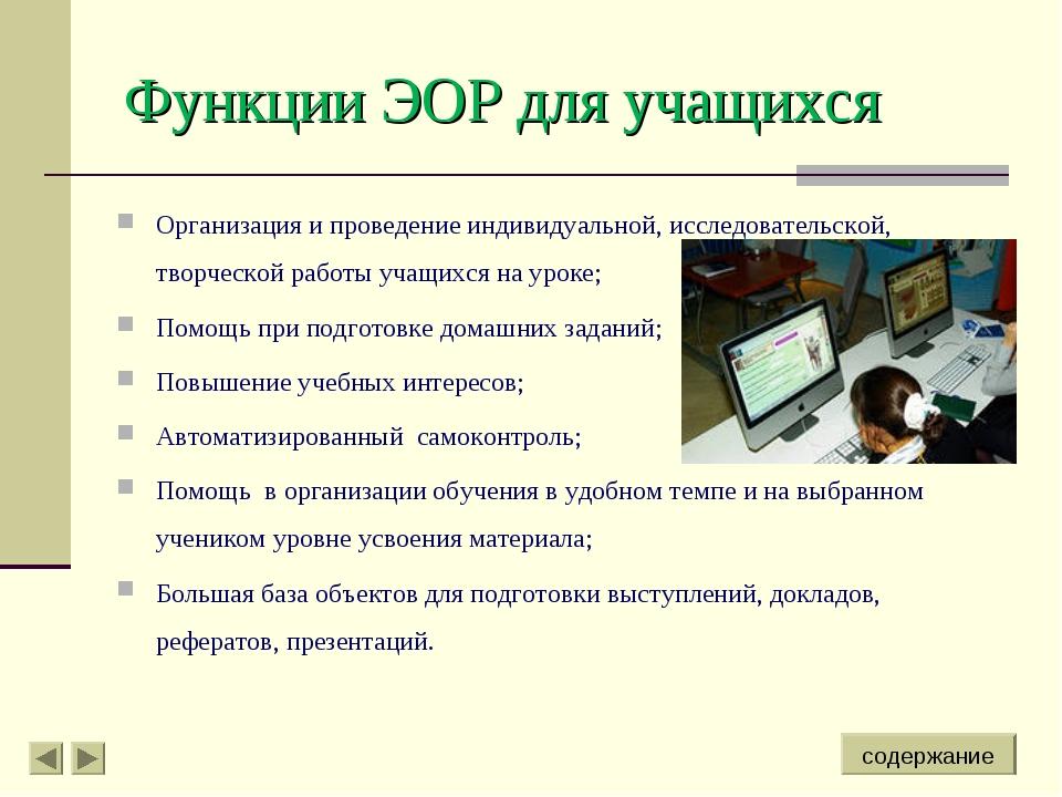 Организация и проведение индивидуальной, исследовательской, творческой работы...
