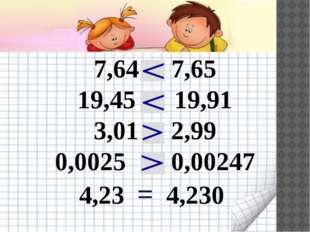 7,64 7,65 19,45 19,91 3,01 2,99 0,0025 0,00247 4,23 = 4,230