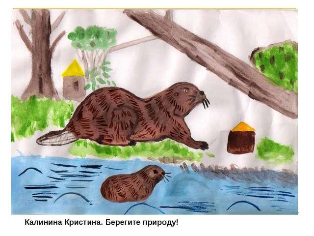 Калинина Кристина. Берегите природу!