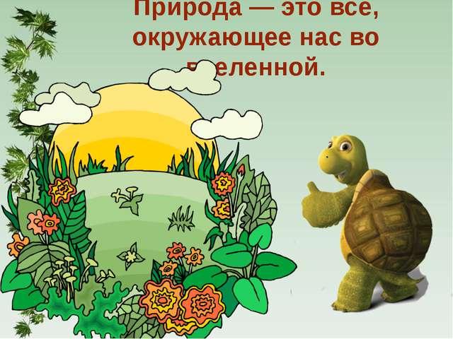 Природа — это всё, окружающее нас во вселенной.