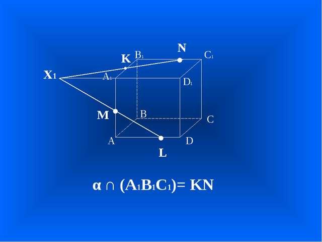 А В С D А1 D1 С1 В1 • • • M L N Х1 α ∩ (А1В1С1)= KN • K