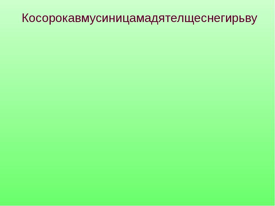сорока синица дятел снегирь Косорокавмусиницамадятелщеснегирьву