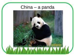 China – a panda