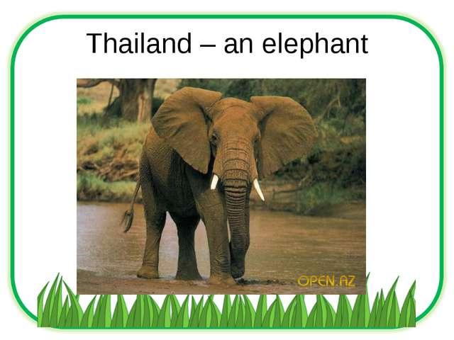 Thailand – an elephant