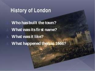 The fire of London In October 1796 there was a fire in the old city of London