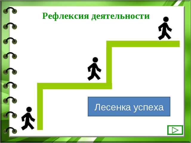 Лесенка успеха Рефлексия деятельности