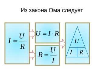 Из закона Ома следует U I R
