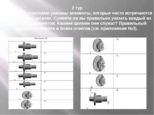 2 тур На рисунке стрелками указаны элементы, которые часто встречаются в техн