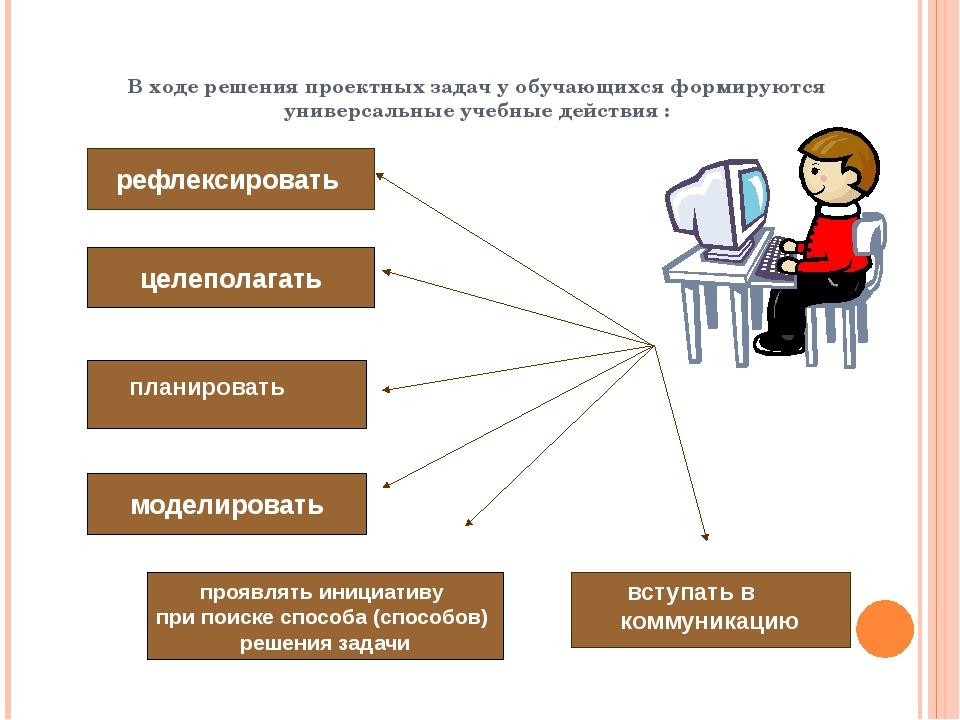 В ходе решения проектных задач у обучающихся формируются универсальные учебн...