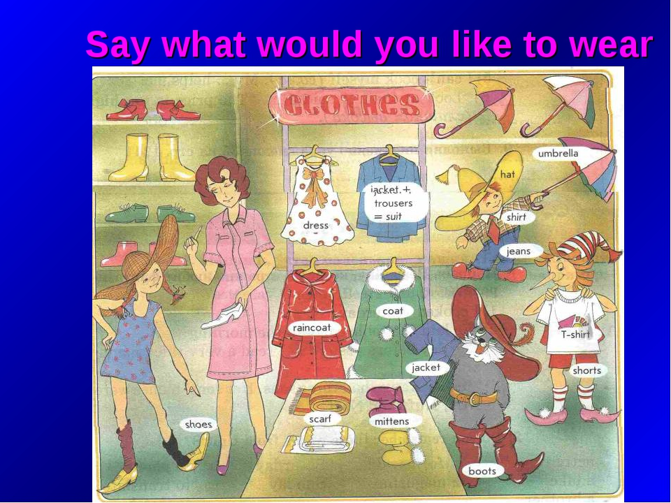 Say what would you like to wear