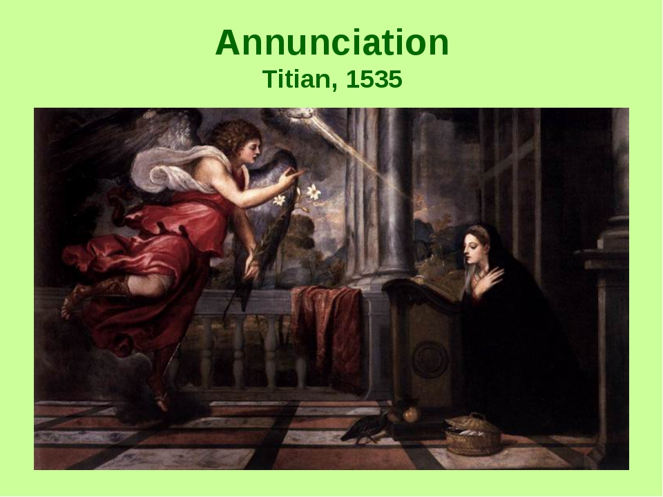 Annunciation Titian, 1535