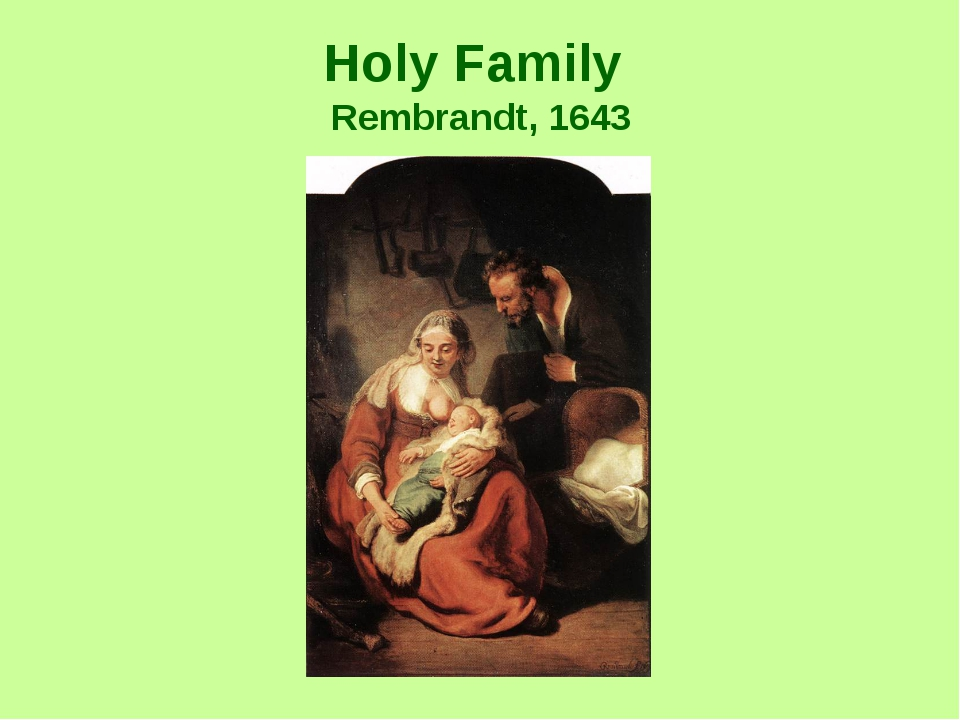 Holy Family Rembrandt, 1643
