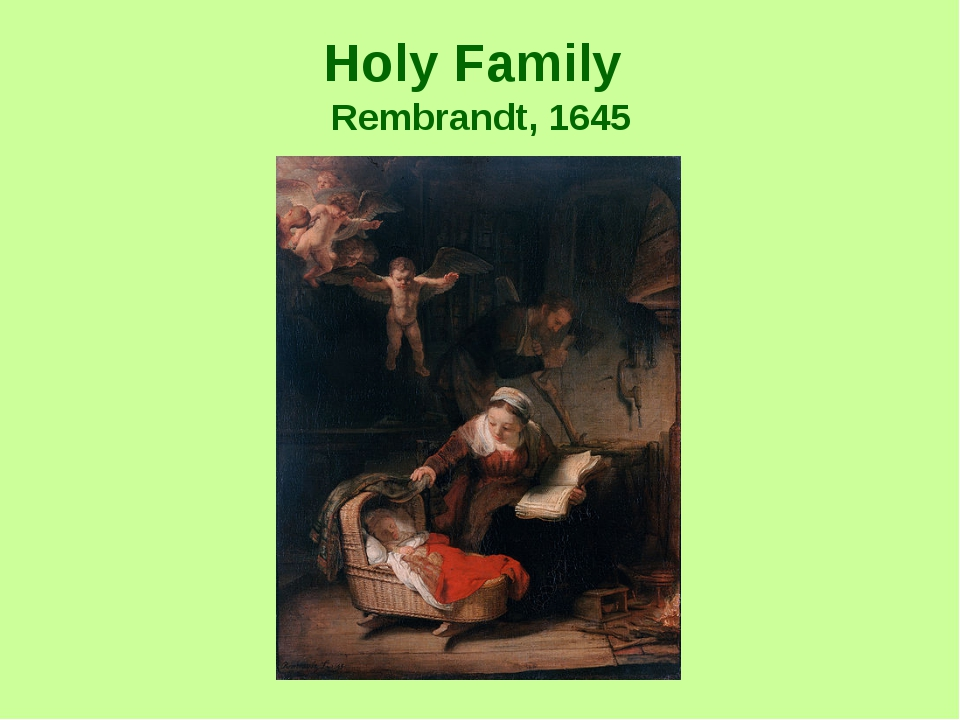 Holy Family Rembrandt, 1645