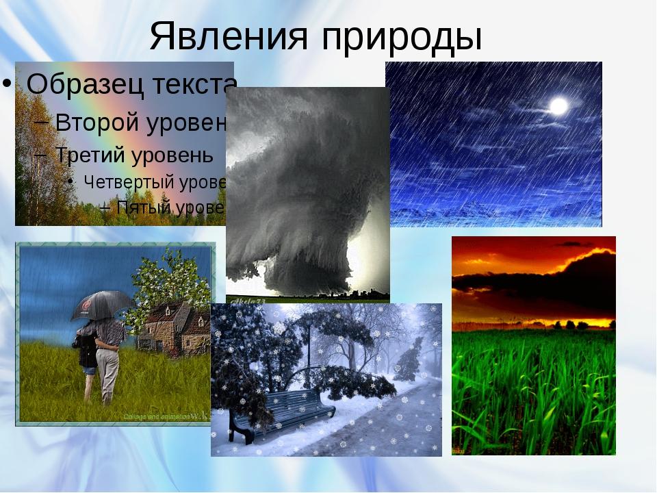 Явления природы Бурякова Ирина Вячеславовна