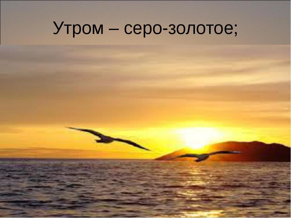 Утром – серо-золотое;
