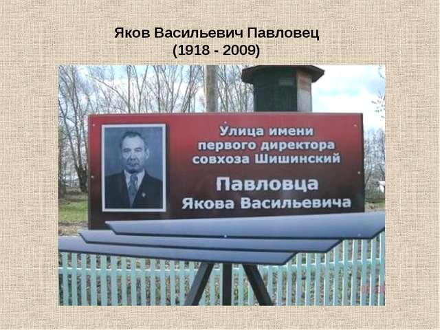 Яков Васильевич Павловец (1918 - 2009)