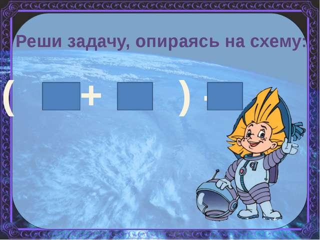 Реши задачу, опираясь на схему: ( + ) -