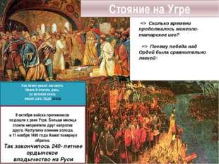 Хан Ахмат решил заставить Ивана III платить дань, но великий князь решил дать
