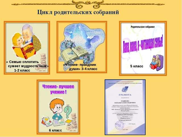 Цикл родительских собраний «Чтение- праздник души» 3-4 класс 5 класс 6 класс...
