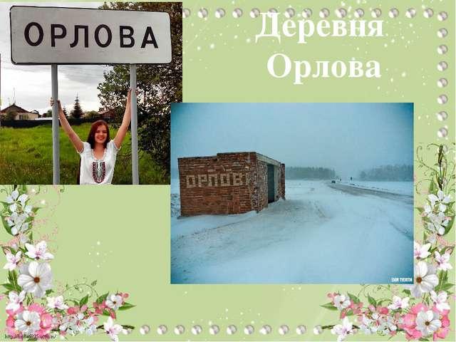 Деревня Орлова