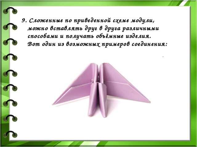 9. Сложенные по приведенной схеме модули, можно вставлять друг в друга различ...