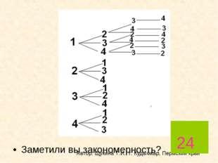 Заметили вы закономерность? Автор: Щукина Т.И., г. Кудымкар, Пермский край