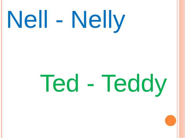 Nell - Nelly Ted - Teddy
