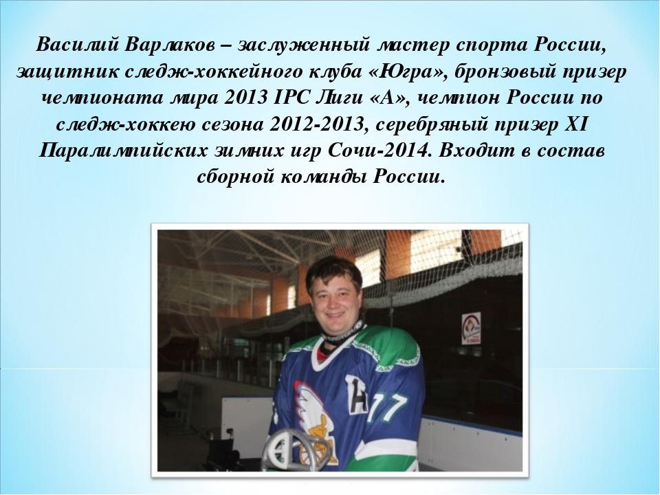 Василий Варлаков– заслуженный мастер спорта России, защитник следж-хоккейног...