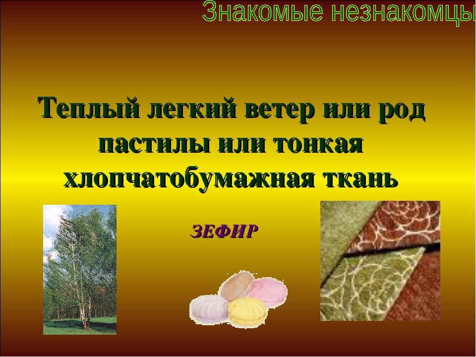 Теплый легкий ветер или род пастилы или тонкая хлопчатобумажная ткань ЗЕФИР
