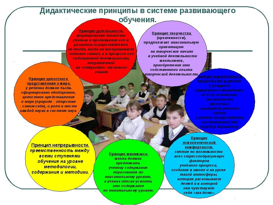 Дидактические принципы в системе развивающего обучения. Принцип целостного пр...