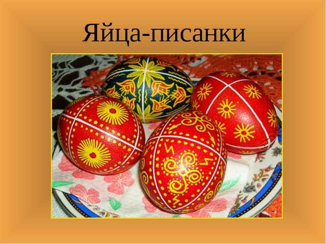 Яйца-писанки