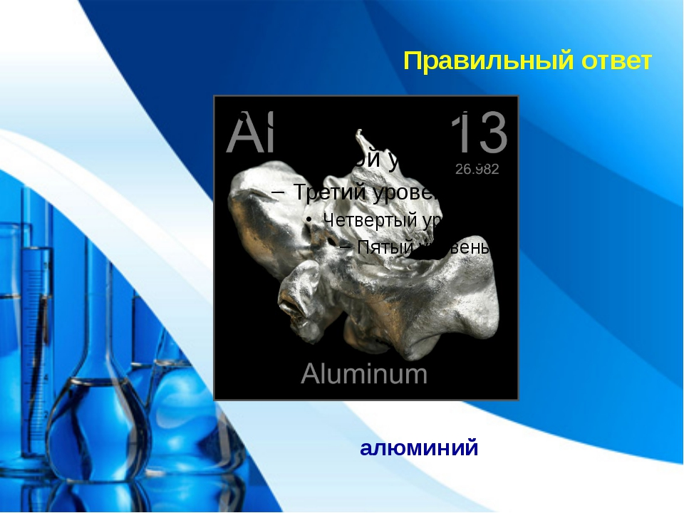 Правильный ответ алюминий