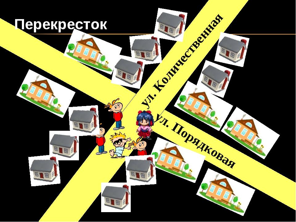 ул. Порядковая Перекресток ул. Количественная