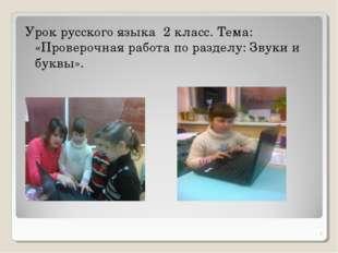 Урок русского языка 2 класс. Тема: «Проверочная работа по разделу: Звуки и бу