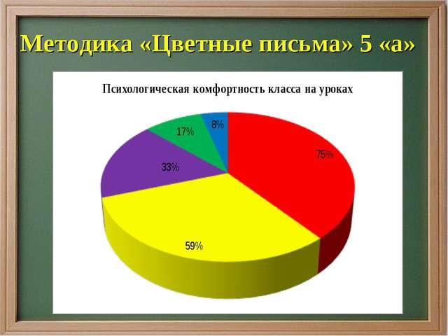 Методика «Цветные письма» 5 «а»