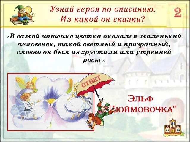 «В самой чашечке цветка оказался маленький человечек, такой светлый и прозрач...
